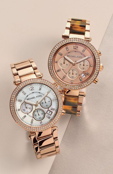 @*i.prefer.not.giving.my.name* Women's Michael Kors 'Parker' Chronograph Watch, 39mm