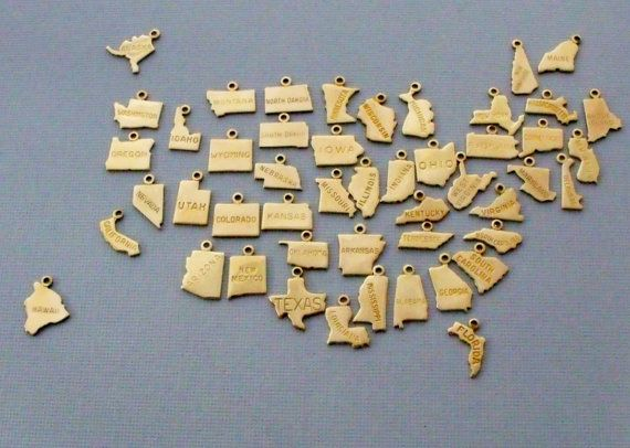 Hey, I found this really awesome Etsy listing at https://www.etsy.com/listing/156949590/state-charm-necklace-small-gold-brass