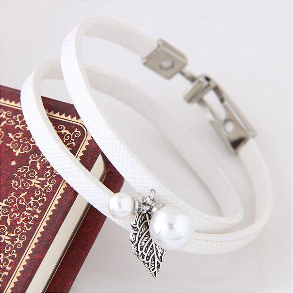 Biała bransoletka Silvona