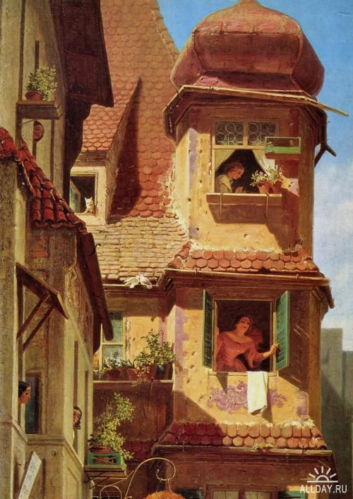 Carl Spitzweg German painter,19th century Genre Painting,German artists,Romanticism: