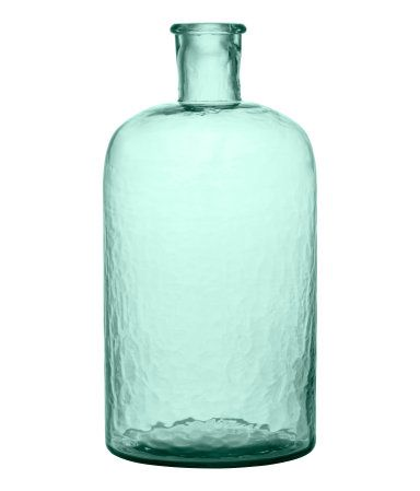 Large Glass Vase Green, Product Detail | H&M US
