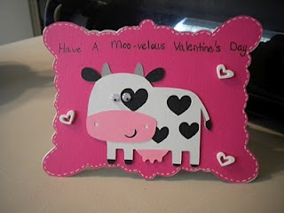 Fun cow Valentine card craft for kids