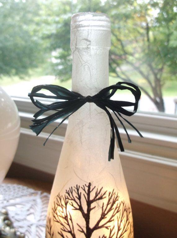 Bare Tree Wine Bottle Light wine bottle lights door songbird58