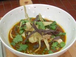 Chicken-Posole Soup from CookingChannelTV.com