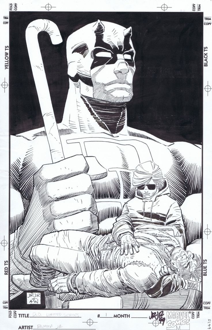 DAREDEVIL : the man without fear #1 FATHER Comic Art