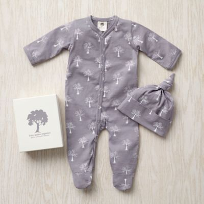 Kate Quinn Hat Set (Grey Trees)  | The Land of Nod, cute coming home outfit for either gender