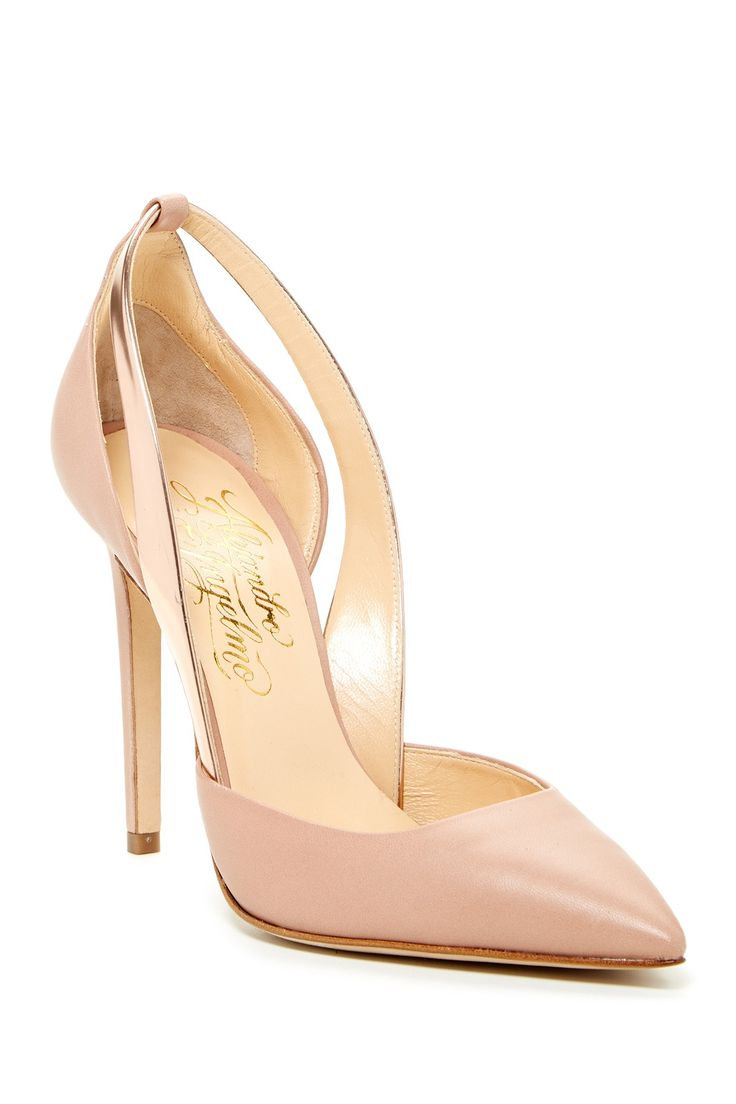 Nude + Rose Gold Pumps