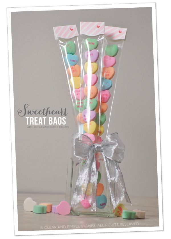 Sweetheart Treat Bags | Clear and Simple Stamps | how-to on blog | #csscreatewithlove