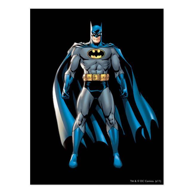 Batman Stands Up Postcard Zazzle Com In 2021 Batman Cartoon Batman Comics Superhero