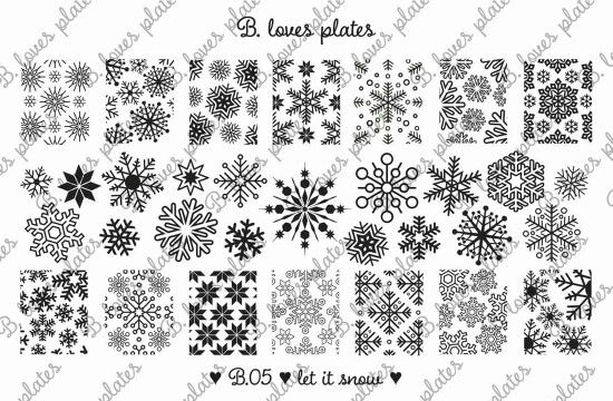 B.05 let it snow! <3 #BlovesPlates #stampingplate #stamping #news #snow #stars