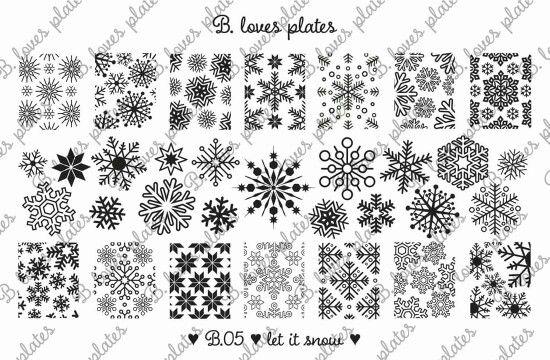 B.05 let it snow! <3 #BlovesPlates #stampingplate #stamping #news #snow #stars