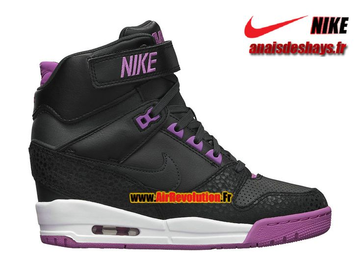 Boutique Officiel Nike Air Revolution Sky Hi GS Noir/Anthracite/Fushia/Blanc 599410-001