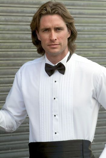 Ralph Lauren Pleated Tuxedo Shirt with Wing Collar - Limited Sizes!