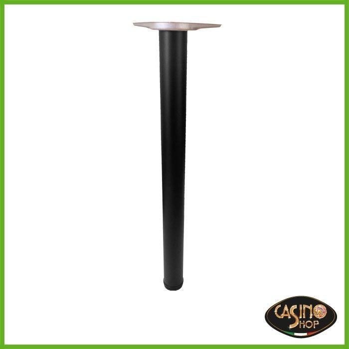 Gambe in metallo dal diametro di 60 mm  Gambe in metallo con piedino regolabile.  ART.0086 Gambe complete di attacchi per poter esser fissate su ogni piano.  Confezioni: 4 PZ