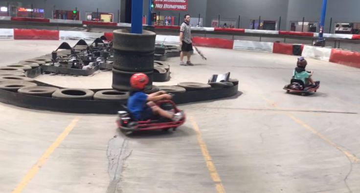 Criança Fica Com a Cabeça Andar à Roda De Tantas Voltas Que Deu Com Kart