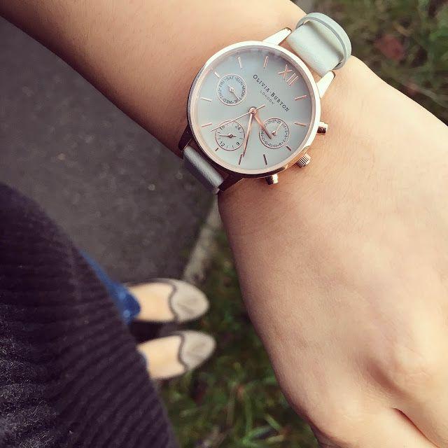 Olivia Burton Watch: Midi Chrono Detail Grey