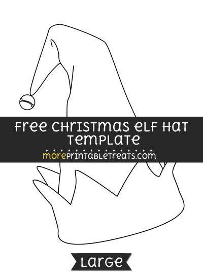Free Christmas Elf Hat Template Large Shapes And