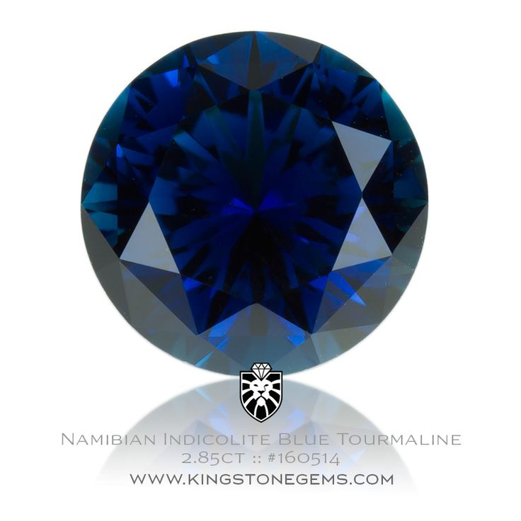 Namibia Indicolite Tourmaline - 2.85ct - 9X9X5.88mm - SKU# 160514 - Visit our online collection of high end precious natural coloured gemstones.