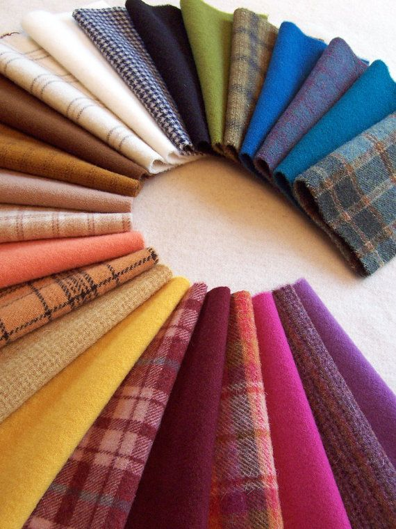 Hand Dyed Felted Wool for Applique Penny Rugs by ThreeSheepStudio, $56.25