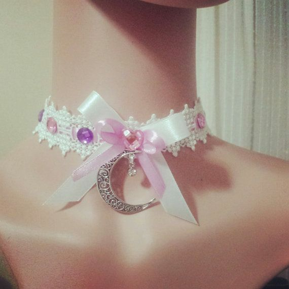 Chocker for real magical girl lolita style by MeameHandmade