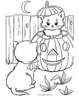 halloween coloring pages - Pictures Of Halloween Drawings