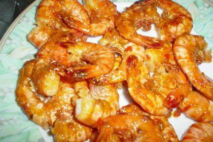 Ebichili - Creveti cu usturoi si sos iute