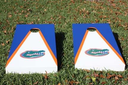 Custom Gator cornhole boards