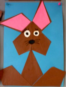 mozaiek kinderen vierkanten en gelijkbenige driehoeken - Google zoeken