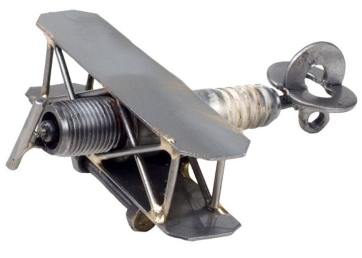 Hand Crafted Recycled Metal Airplane  Art Sculpture Figurine   | Collectibles, Decorative Collectibles, Figurines | eBay!