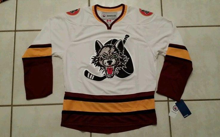 NWT REEBOK Chicago Wolves AHL Hockey Premier Jersey Men's Medium  #Reebok #ChicagoWolves