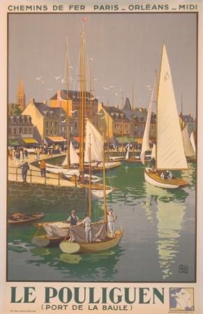 Le Pouliguen Port de La Baule ca. 1934