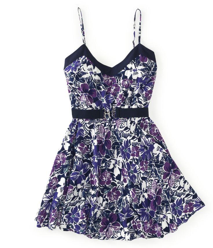 Belted Violets Dress from Aeropostale