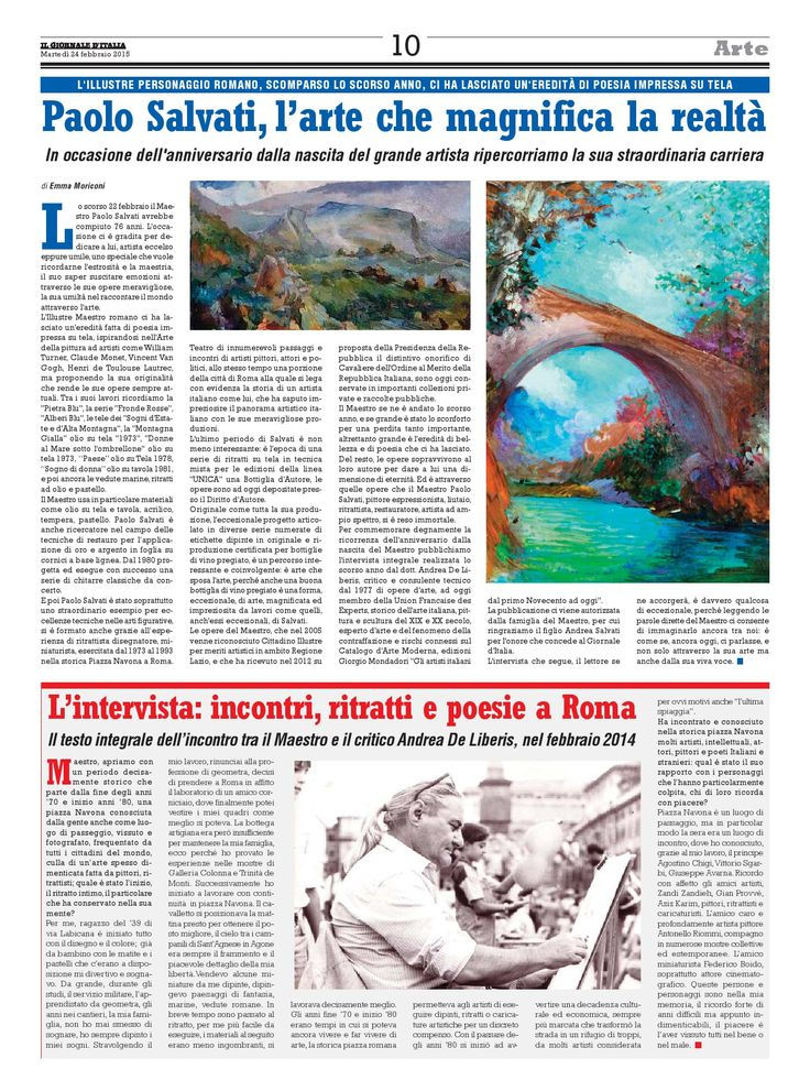 Il Giornale d'Italia 24 febbraio 2015 pag. 10 - Paolo Salvati