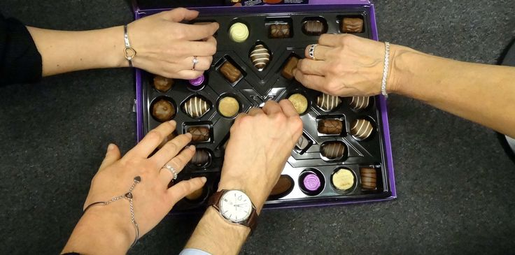 It's all hands on deck when we need help with these chocolates! Another gift from a grateful customer