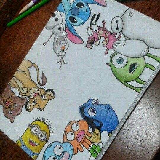 liebe diese Disney-Figuren – Disney Skizzen – #d…