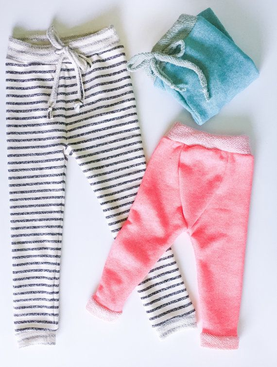 French terry sweatpant Baby Joggers Baby Jogger by MinasEstilos
