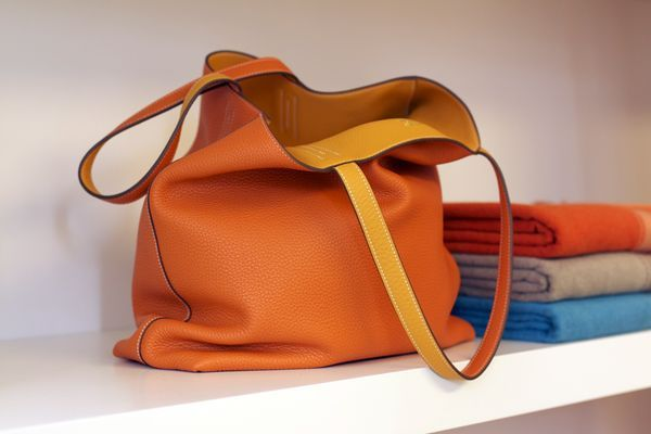 1000+ images about Double Sens reversible bag in orange and yellow ...