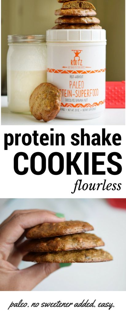 Protein Shake Cookies – LOW CARB - PALEO -FLOURLESS