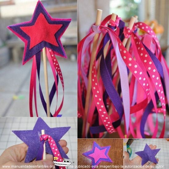 cómo hacer una varita de princesa: http://www.manualidadesinfantiles.org/varita-de-princesa/