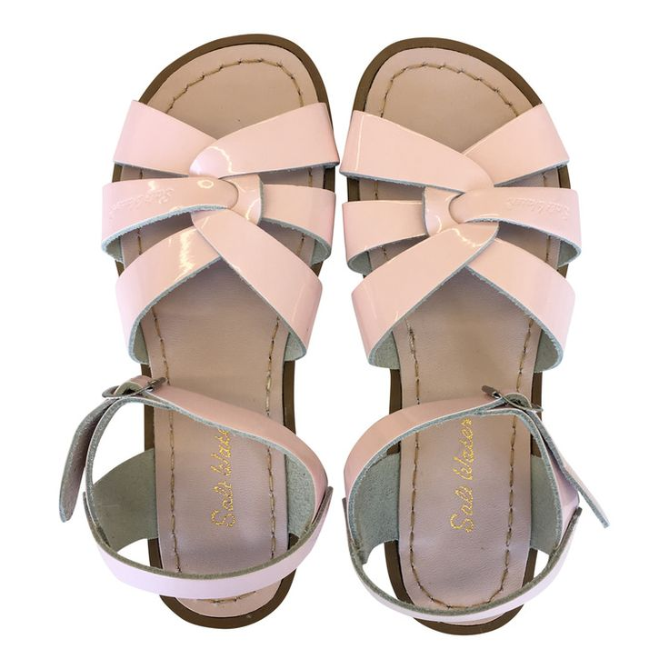 Pink Salt Water Sandal Leather Weave Sandal with Strap If Between Sizes,  Size Up