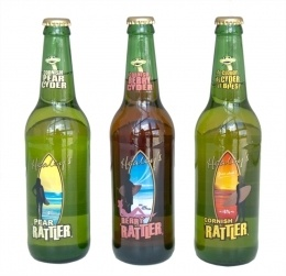 Cornish Rattler Cider in apple, pear and berry flavour