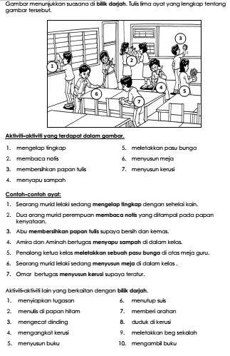 Fokus Utama Bahasa Melayu Penulisan SK/SJK 2015 - Bahagian A