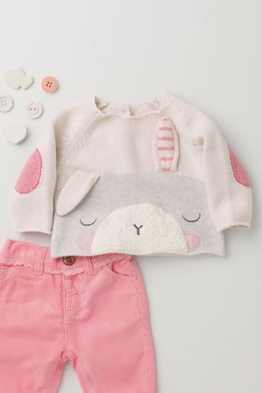 Next Bunny Knit Jumper (0-18mths) Online | Shop The Brand Store
