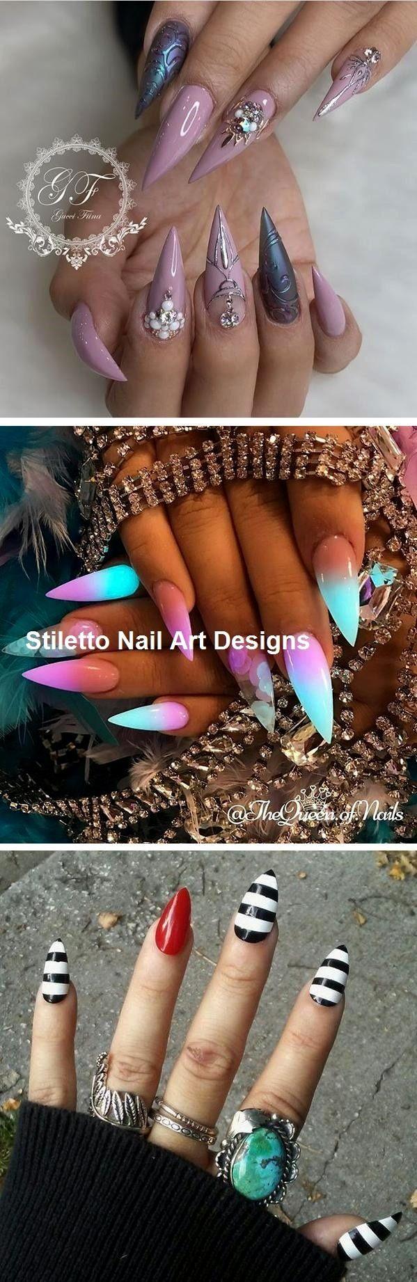 30 große Stiletto Nail Art Design-Ideen # Stilettonails – Künstliche fingernägel
