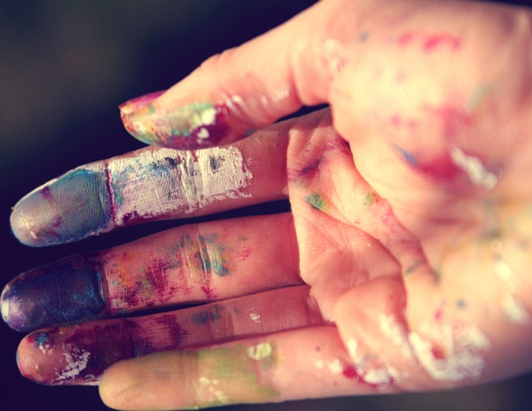 Sometimes you have .to get messy to create something beautiful