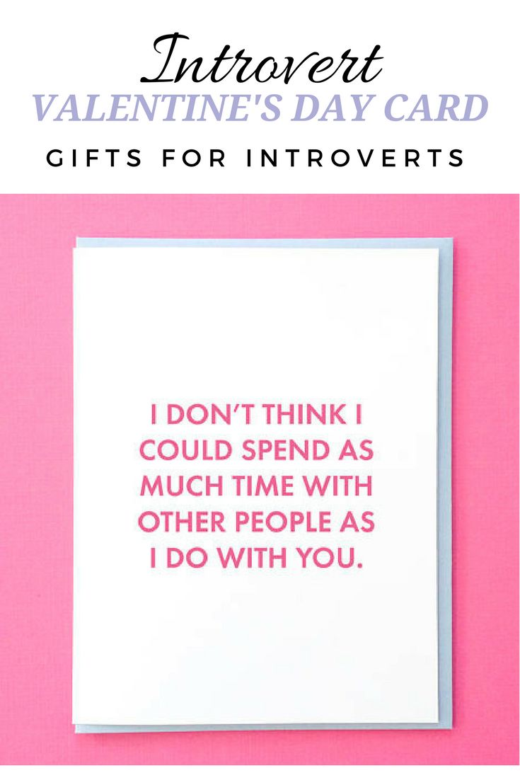 """I don't think I could spend as much time with other people as I do with you."" Funny Valentine Cards for Him. Funny Valentine Card. Funny Valentine Cards For Friends. Best Friend Valentines Card. Introvert Valentine #valentinesday #introvert #giftidea #valentinesdaygiftideas #infp #valentinesdaygift #affiliate #valentinecards"