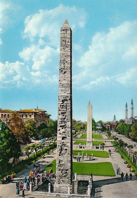 Istanbul, Turkey - Hippodrome, Egyptian obelisk