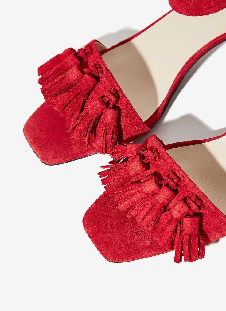 Sandalia de piel con borlas - Complementos   Adolfo Dominguez shop online