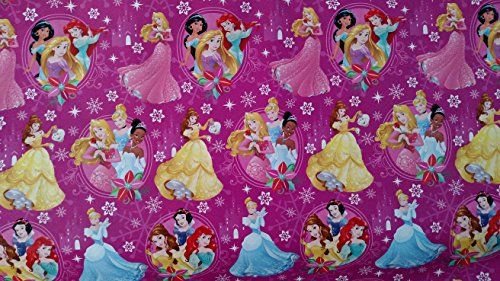 Disney Princess Wrapping Paper Christmas Gift Wrap (1 Roll ...