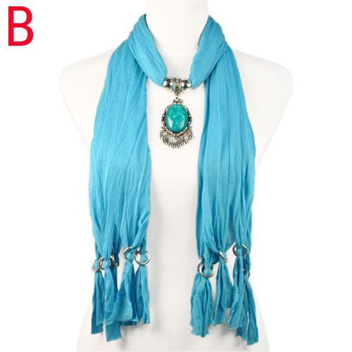 27 best beads pendant scarf images on pinterest scarves shawl pendant scarf women zinc alloy embed with matching color resin stone nl 1940b aloadofball Images